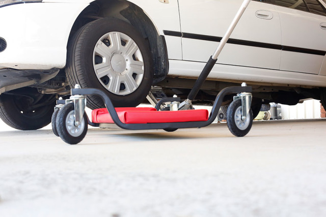 Trolley used during a vehicle inspection in Perth