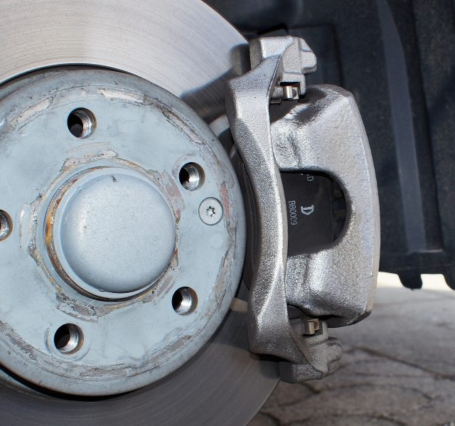 brake disc and caliper for pre purchase car inspection